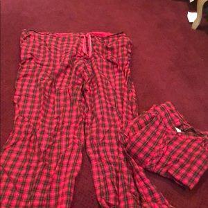 Victoria Secret red long sleeve pajama set